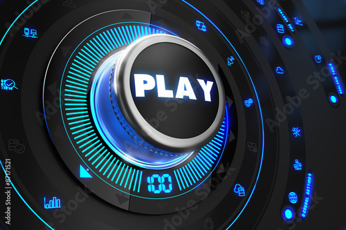Play Controller on Black Control Console.