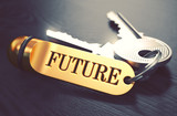 Future Concept. Keys with Golden Keyring. - 87171705