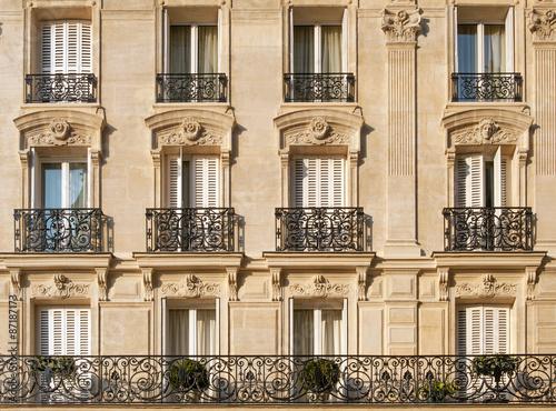 Typical facade of Parisian building near Notre-Dame Photo by Natalia Bratslavsky