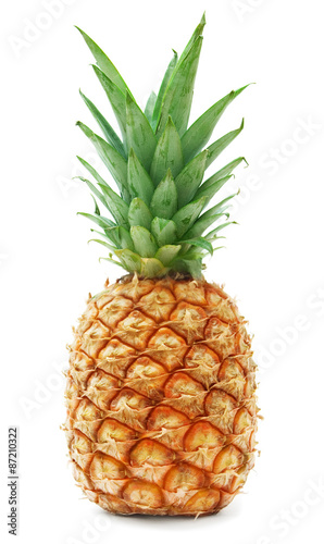 ripe pineapple isolated on white background