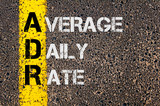 Business Acronym ADR as Average Daily Rate poster