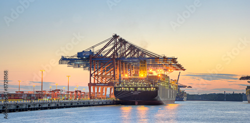 Fotobehang Rotterdam Containerhafen