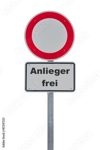Poster Durchfahrtsverbot