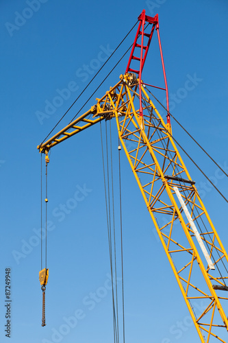 Poster tower crane in the port
