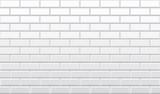 Fototapety Seamless white brick wall pattern, vector wallpaper