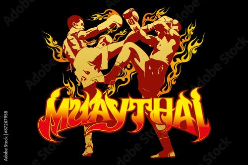 Fototapeta thai boxing