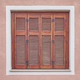 vintage window old wooden shutters