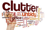 Clutter word cloud concept poster