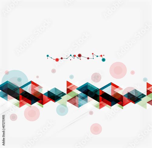 Poster Geometrische dieren Clean colorful unusual geometric pattern design