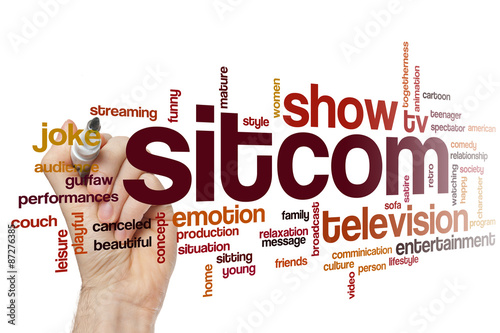 Sitcom word cloud Poster