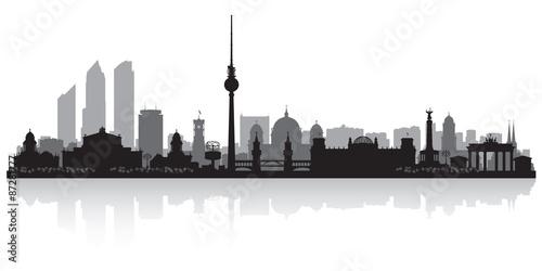 Naklejka Berlin Germany city skyline silhouette