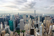 New York city, United States. Panoramic view of Manhattan skylin