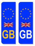 EU Number Plate Identifier For Great Britain poster