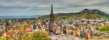 Fototapety Panorama of Edinburgh from the castle - Scotland