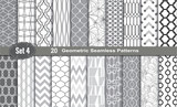 Fototapety Geometric Seamless Patterns., pattern swatches included for illustrator user, pattern swatches included in file, for your convenient use.