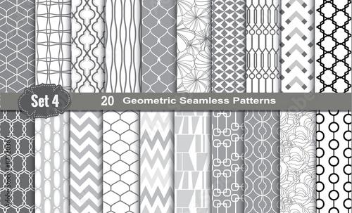 Geometryczne wzory bez szwu., Próbki wzorów dołączone dla użytkownika programu illustrator, próbki wzorów zawarte w pliku, dla wygodnego użytkowania.