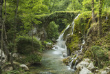 Fototapety Waterfalls of Venus. Southern Italy, Cilento, Casaletto Spartano. Natural oasis with a small river from the icy waters,