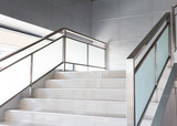 white stairs in modern office