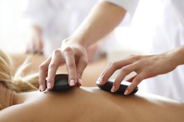 Spa hot stone massage © alotofpeople