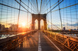 Brooklyn Bridge in New York City USA