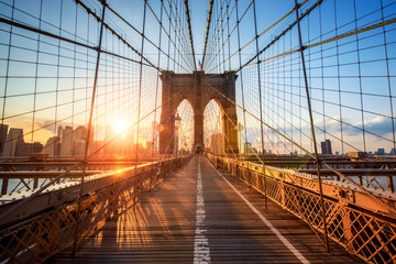 Brooklyn Bridge w New York City, Stany Zjednoczone Ameryki