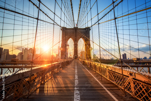 Fototapety, obrazy : Brooklyn Bridge in New York City USA