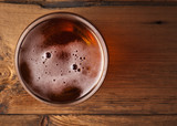 Fototapety glass of fresh lager beer