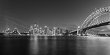 Sydney's opera house and skyline seen from the harbour bridge