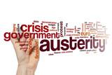 Austerity word cloud concept