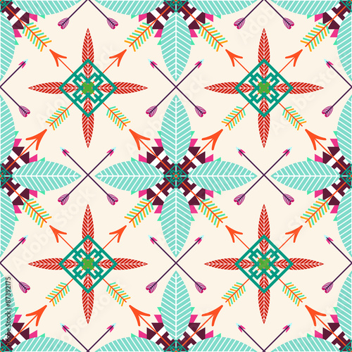 Tribal seamless background - 87392175