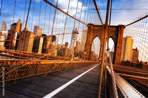 Fototapety, obrazy : Brooklyn Bridge in New York City