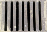 Rainwater canalization grate poster