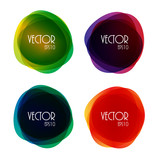 Fototapety Set of Round Circle Colorful Vector Shapes