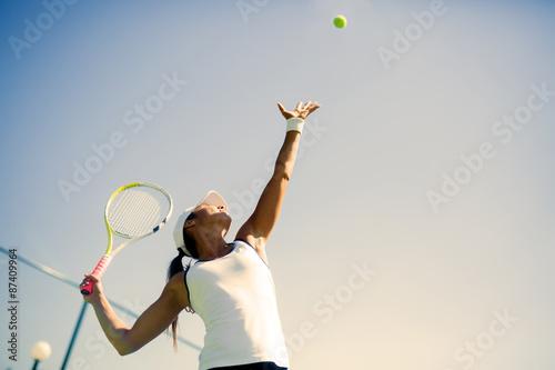 Belle joueuse de tennis portion Tableau sur Toile