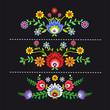 kwieciste wzory ludowe