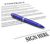 Contract Pen Sign Here Line Legal Agreement Document Signing Nam