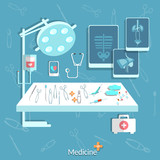 Medical: operating, stethoscope, surgery, treatment, surgery