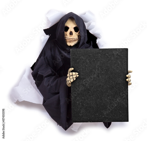 Poster Grim Reaper with an billboard