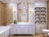 Fototapety Furniture in classic bathroom