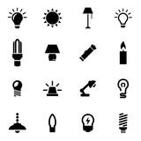 Vector black light icon set poster