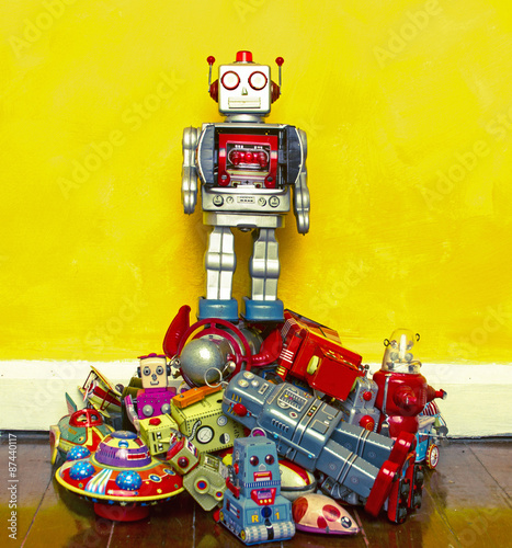 Foto op Canvas robot toy
