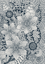 floral background with doddle concept