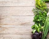 Fresh garden herbs - 87465177