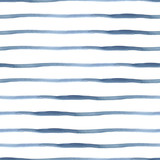 Fototapety Dark Blue Vector Abstract Watercolor Seamless Striped Pattern