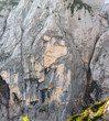 Постер, плакат: Pegan girl Ajdovska deklica rock face of a maiden that found its own special place in folk fable as she was turned into rock by other angered maidens