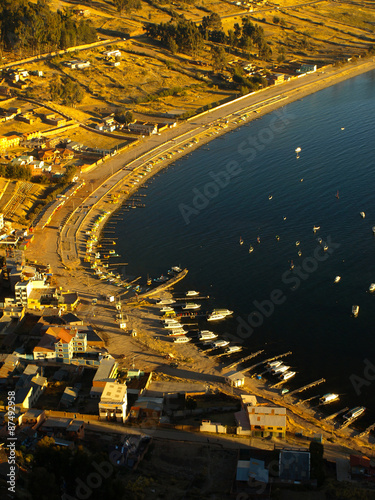 Copacabana city at Titicaca lake