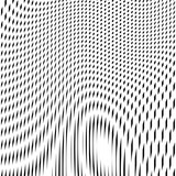 Illusive background with black chaotic lines, moire style. Contrast geometric trance pattern. poster
