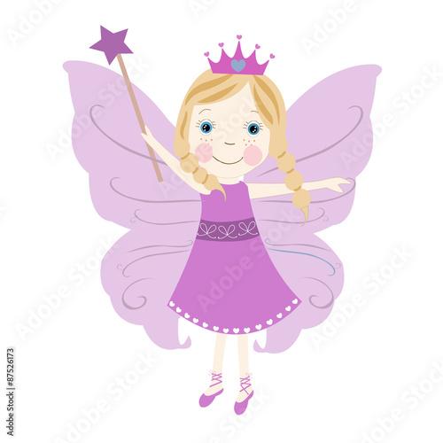 Naklejka Cute puple fairytale vector