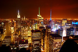 Fototapety Aerial view of Manhattan from Top of the Rock