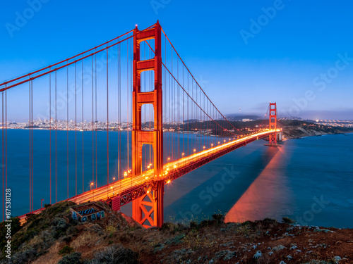 Poster Golden Gate Bridge in San Francisco California